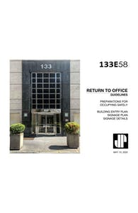 133 E 58 St. Return to Office Plan