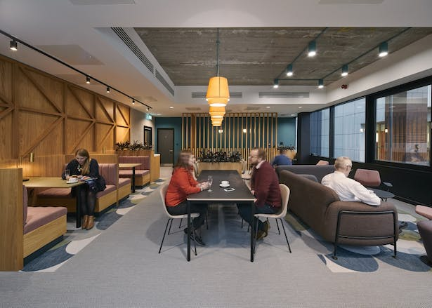 First floor meeting and co-working lounge
