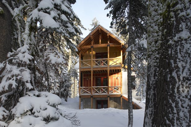 West Facade, Lodgepole Pine House