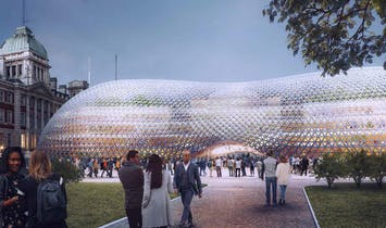 Norman Foster proposes pop-up UK Parliament building inspired by Crystal Palace