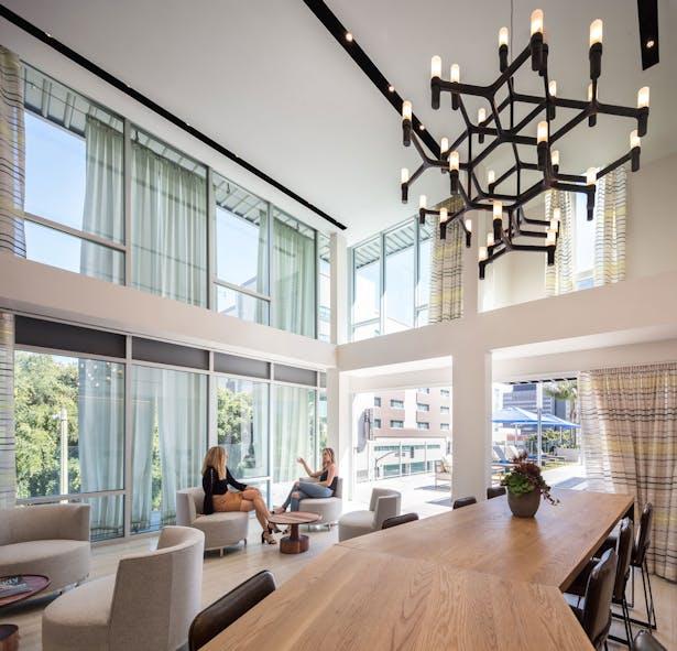 Lounge areas create a sense of community.