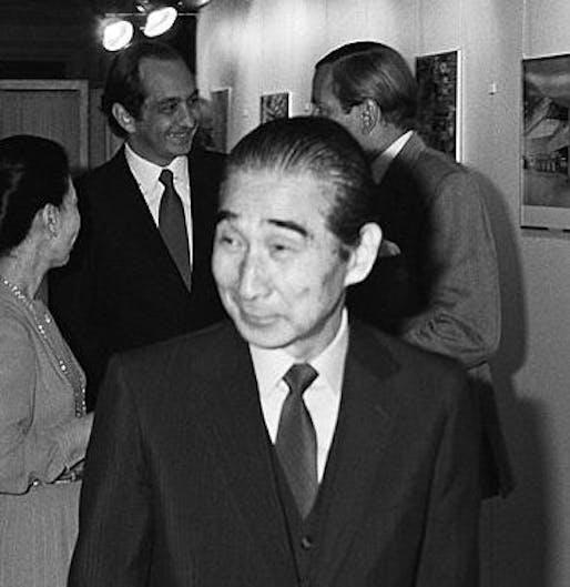 "Kenzo Tange. Image: <a href=""https://commons.wikimedia.org/wiki/File:Kenzo_Tange_1981.jpg"">Wikipedia</a>"