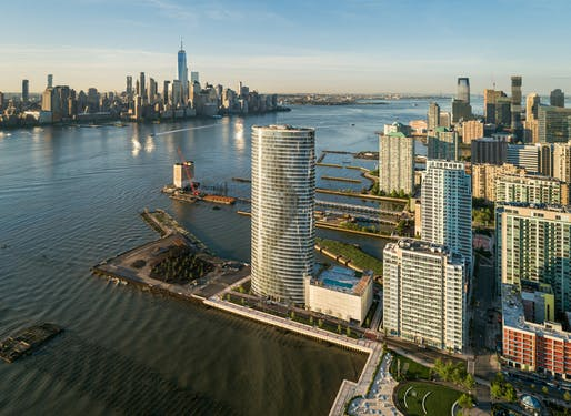 The Ellipse in Jersey City, NK. Image © HLW