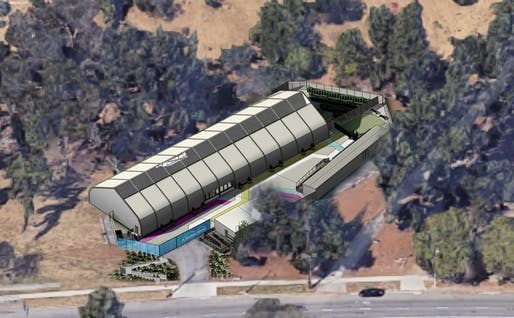 Rendering of the Riverside Drive homeless shelter. Courtesy of LA City Councilmember David Ryu