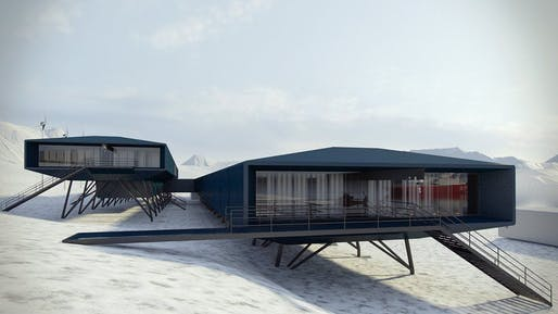 Brazil's Comandante Ferraz Antarctic research station by Estúdio 41