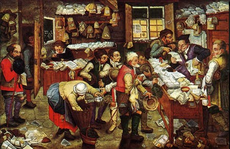 Pieter Brueghel the Younger, 'Paying the Tax (The Tax Collector)', 1620-1640. Image via wikipedia.org.