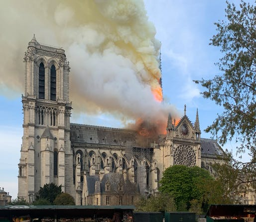View of the 2019 Notre-Dame cathedral, Image courtesy of Wandrille de Préville.