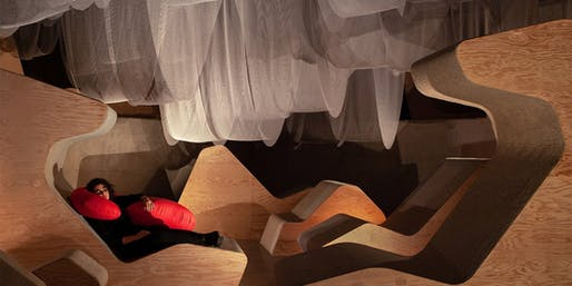 A new installation space at the University of Toronto explores sleepy environments. Photo by Scott Norsworthy.
