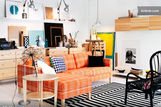 One of host IKEA's Airbnb rentals. Image via Airbnb.