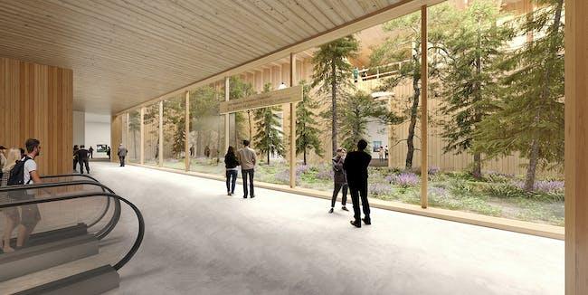 Gallery Lobby with view to Sunken Garden © Herzog & de Meuron