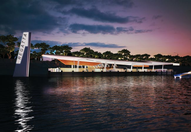 Future projects infrastructure winner: Brisbane Ferry Terminals Post-Flood Recovery, Australia by Co. Image courtesy of WAF.
