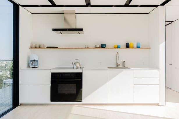 Kitchen with Integrated Storage