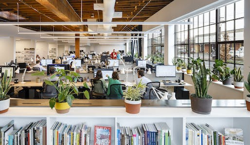 Mahlum's Portland, Oregon office meets Living Building Challenge standards. Photo courtesy of Lincoln Barbour.