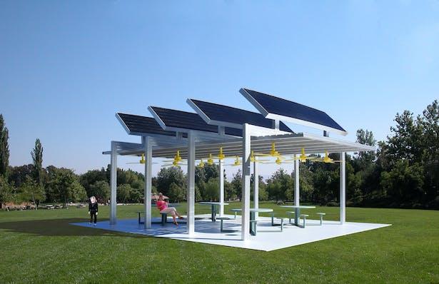 The Solar Ceiling Fan Pavilion