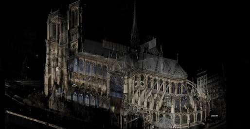 Digital Scan of Notre Dame Cathedral in Paris. Image © Andrew Tallon