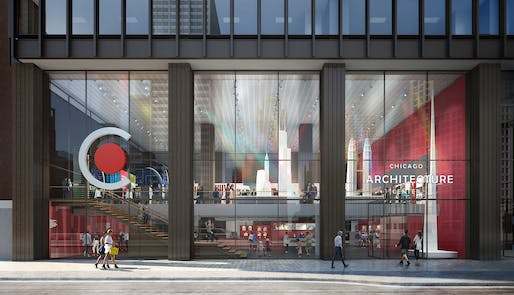 Chicago Architecture Center street view rendering: Image: CAF.