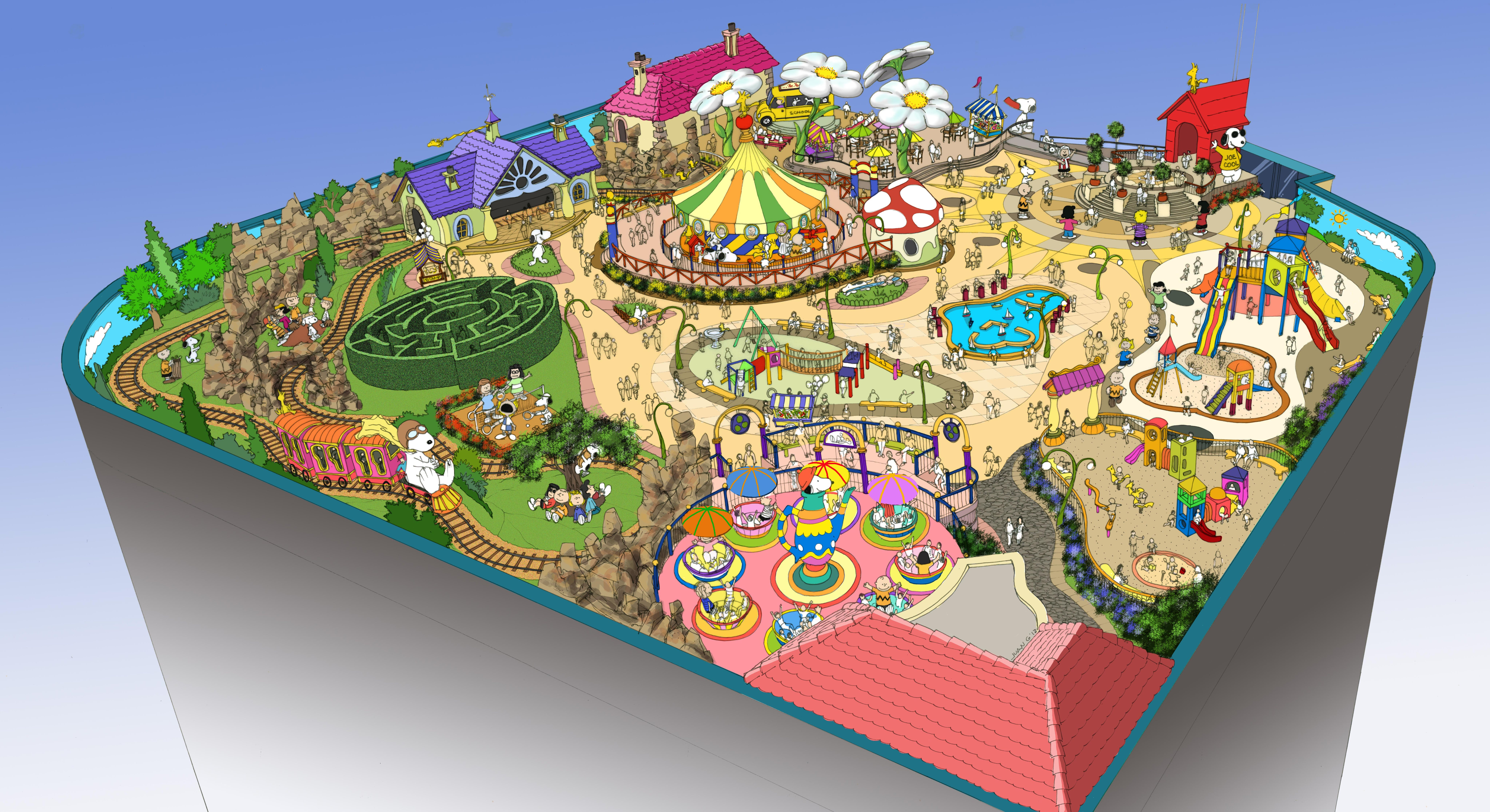 Park Auto Mall >> MCM Wins Competition for Design of Outdoor Snoopy Amusement Park | MCM Group International ...