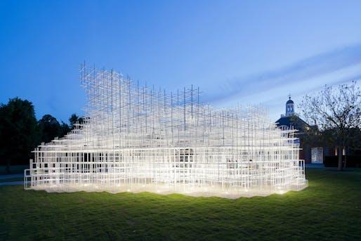 Serpentine Gallery Pavilion 2013, Designed by Sou Fujimoto © Sou Fujimoto Architects, Image © 2013 Iwan Baan.