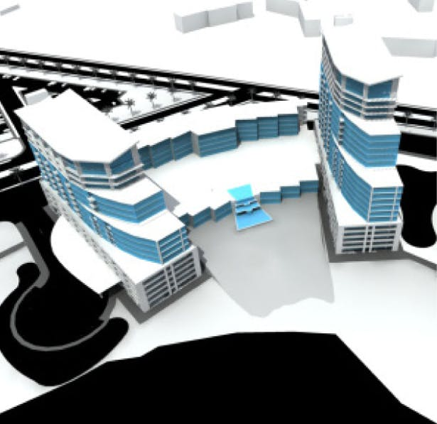 3D Model of Towers for Grand Beach Resort in Orlando, FL
