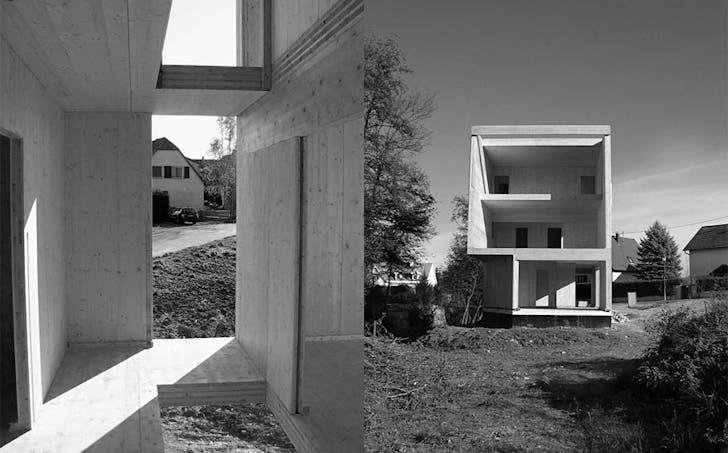 House cs, Massive Wood Construction, France