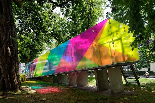 CMY pavilion in Groningen, the Netherlands shift architecture urbanism; Photo: René de Wit