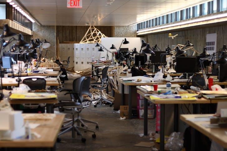 Architecture students' desks, 2008. Image via Wikipedia.org.