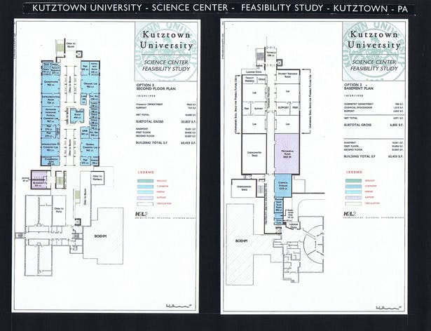 Second and Basement Floor Plans