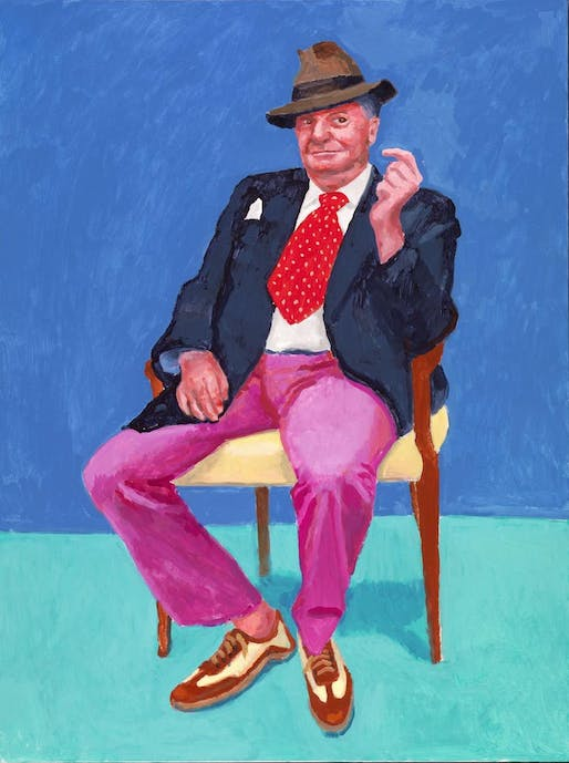 David Hockney, Barry Humphries, from 82 Portraits and 1 Still-life, 2015, collection of the artist, © David Hockney, photo by Richard Schmidt.