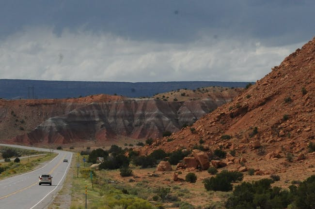 Approaching the site outside Santa Fe