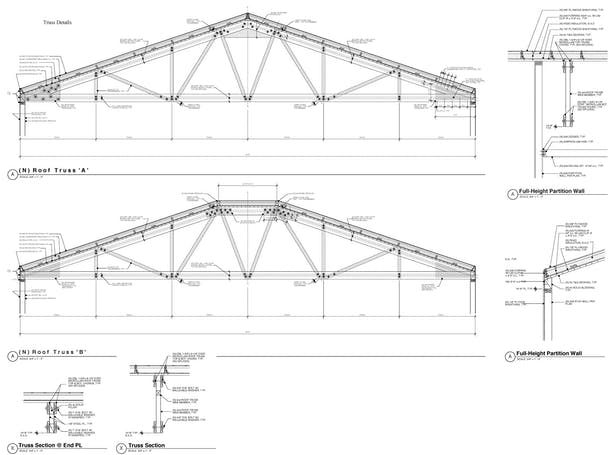 45 Foot Wood Trusses Commercial Bldg Oakland Sally