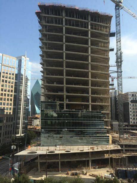 McKinney+Olive Tower curtain wall progress
