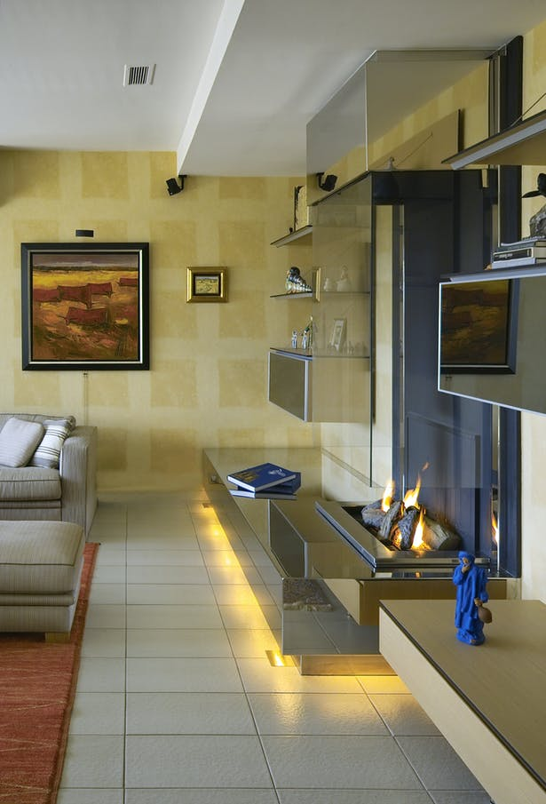 Bloch Design contemporary fireplace stainless steel 5