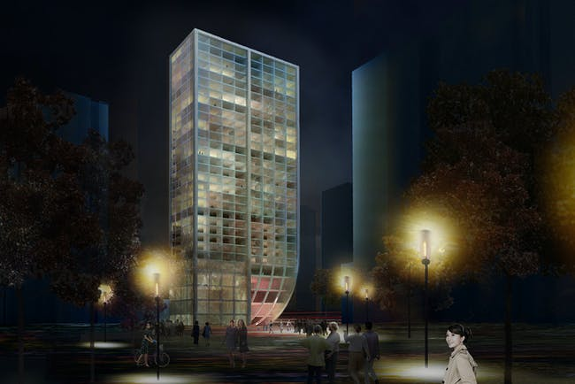 Night view (Image: HAO / Holm Architecture Office)