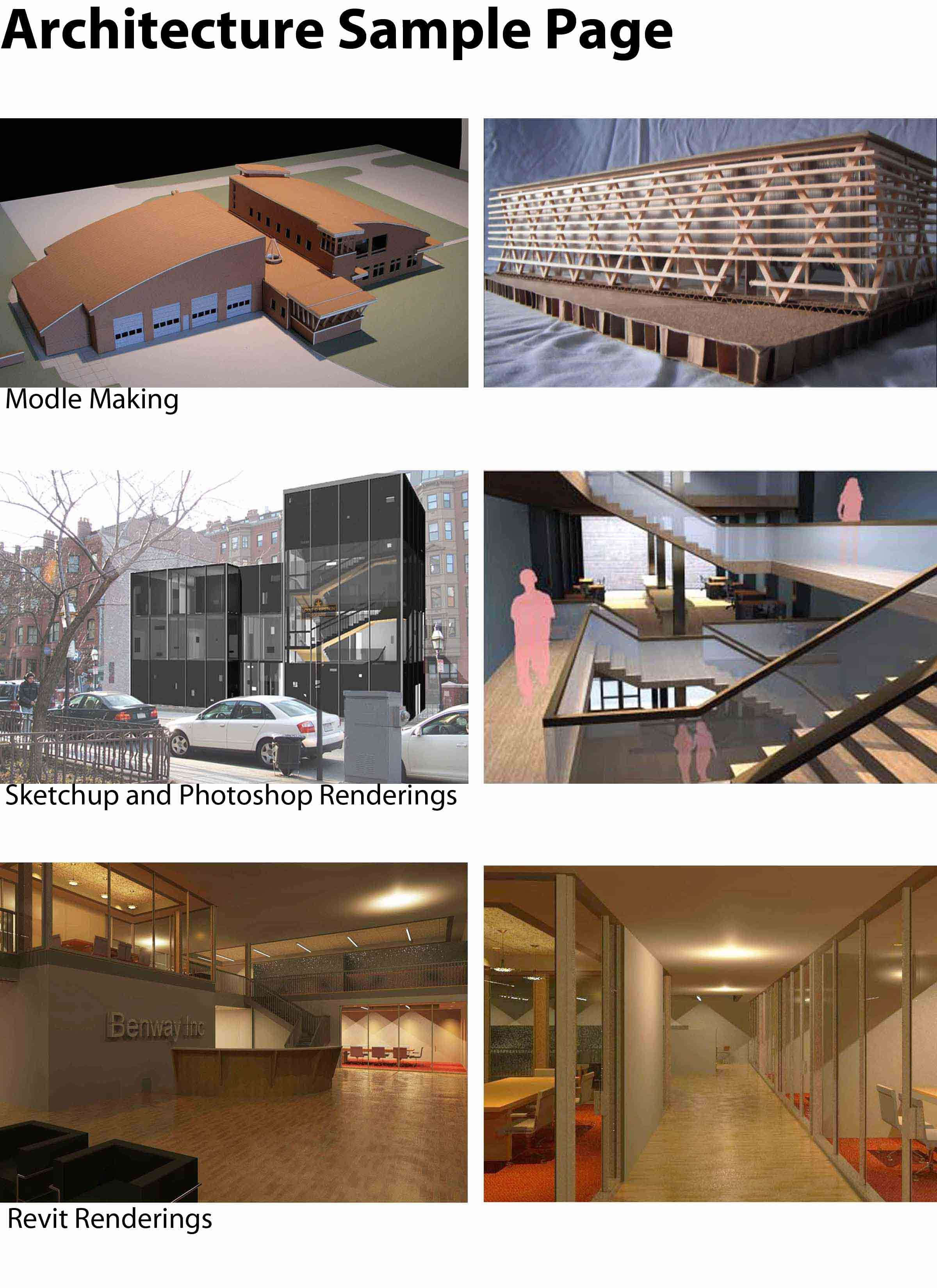 samples of architecture work