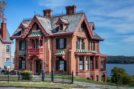 A historic house designed by the architect Andrew Jackson Downing (Tony Cenicola/The New York Times)