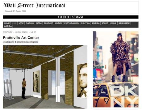 Wall Street International: Prattsville Art Center. Una lezione di creative placemaking.