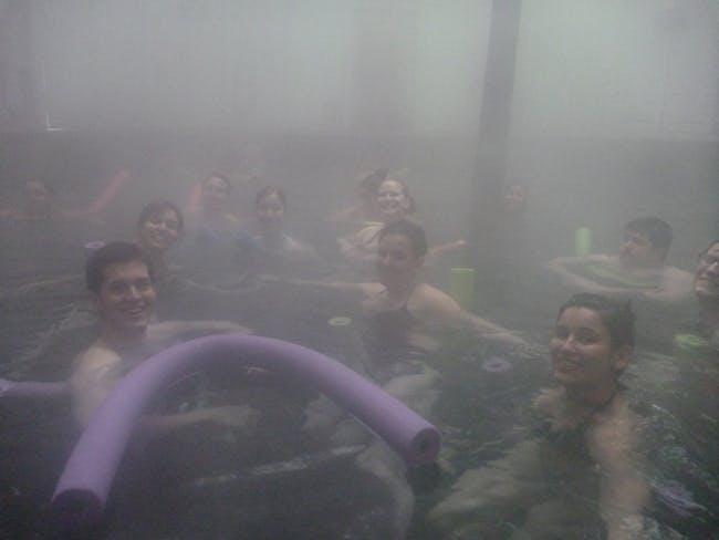 Inside the hot springs