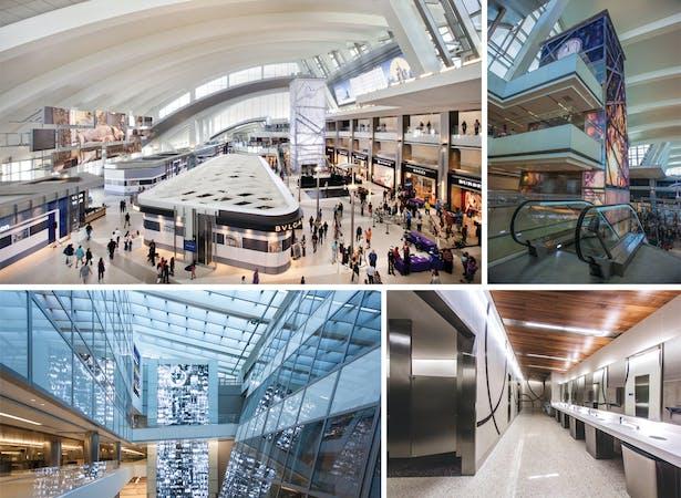 LAX Tom Bradley International Terminal: Interiors
