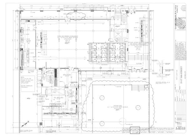 First Floor and Open Space Floorplan