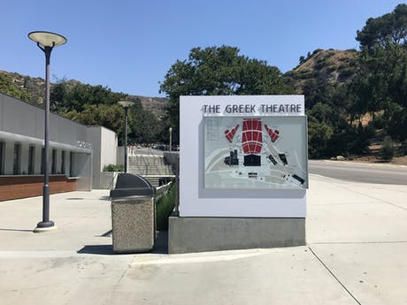 New work up at the Greek Theater