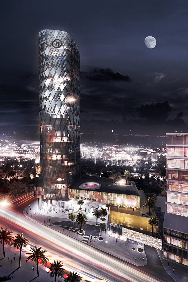 Competition entry for the United Bank Building in Addis Ababa, Ethiopia (Image: Söhne & Partner Architekten and BET Architects)