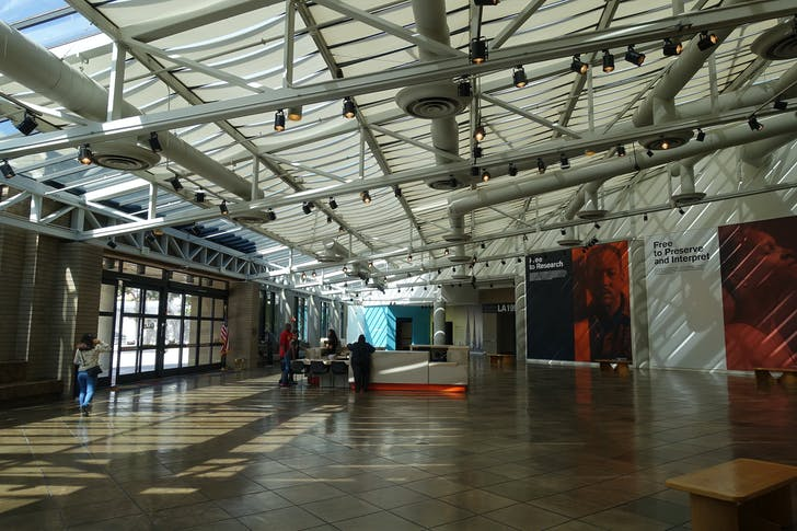 Inside the California African American Museum. Image: Jeremy Thompson via Flickr