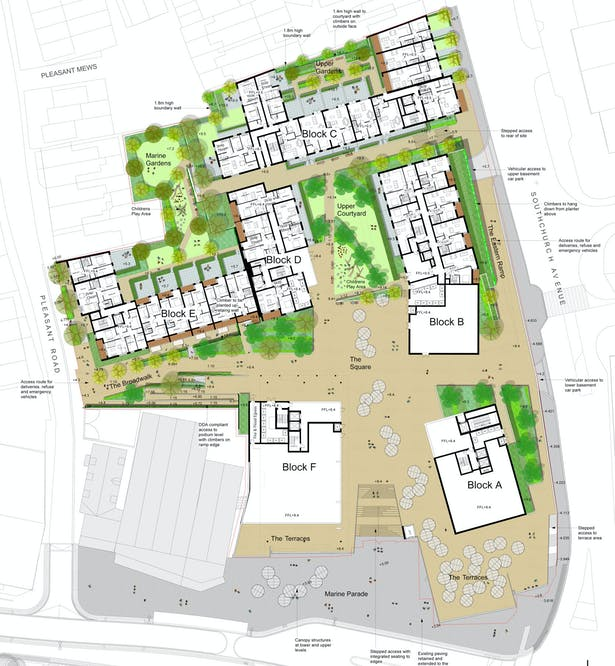 Davis Landscape Architecture Marine Plaza Southend on Sea Mixed Use Landscape Masterplan