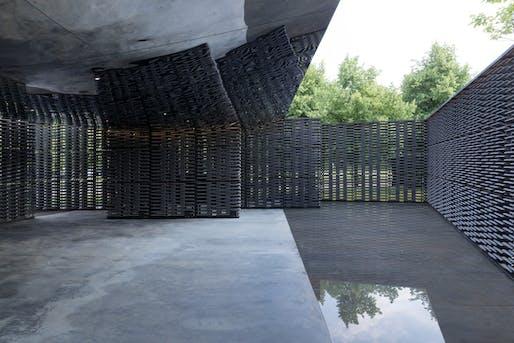 Serpentine Pavilion 2018, designed by Frida Escobedo Image: © Frida Escobedo, Taller de Arquitectura. Photography © 2018 Iwan Baan