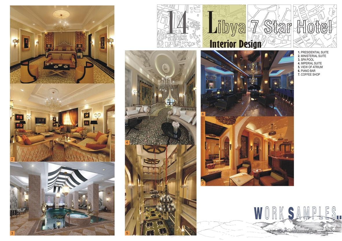 7 Star Hotel In Libya Commercial Interior Design Jignesh