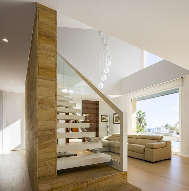 Living and stairs - E House