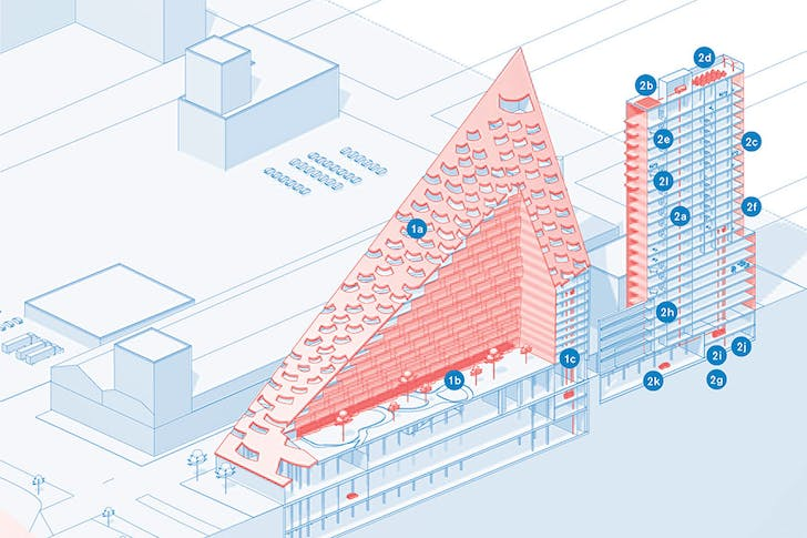 An image from 'the Underdome Guide to Energy Reform' considers BIG's W57. Credit: Janette Kim and Erik Carver / Princeton Architectural Press