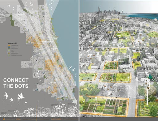 2018 CHICAGO PRIZE WINNER: CONNECT THE DOTS by Megan Wade (Fieldwork Design Group, LLC), Pimpakarn Rattanathumawat (Fieldwork Design Group, LLC), David Schroeder (David Schroeder Architects, Ltd.). Image courtesy Chicago Architectural Club.