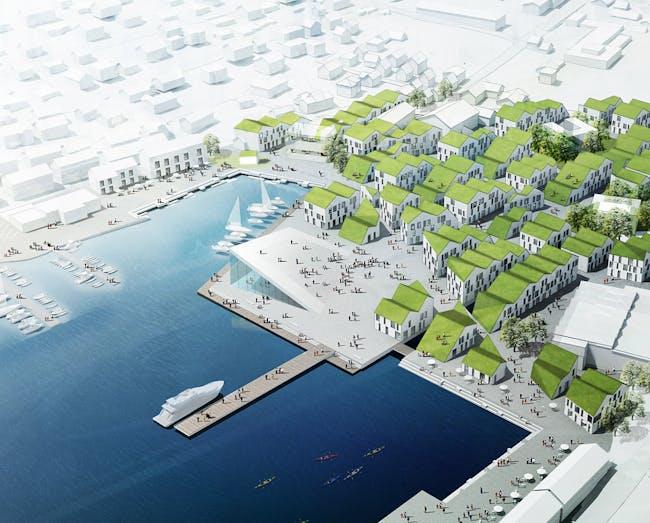 2nd Prize in the Klaksvík City Center competition by Group8 (Image: Group8)