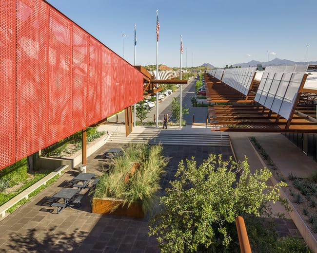 Mariposa Land Port of Entry Expansion and Modernization; Nogales, Arizona by Jones Studio.
